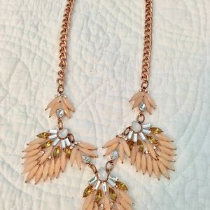 Jewelmint Rose Gold Statement Necklace